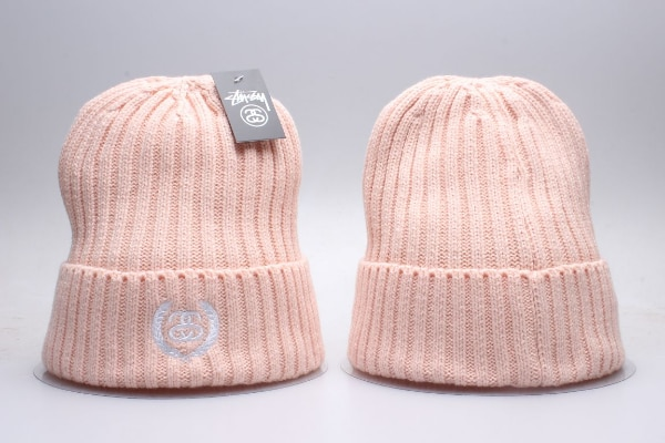 6350dbadc two pink Stussy knit caps