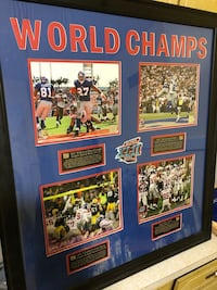 NY Giants SB 42 Championship Poster Bloomfield, 07003