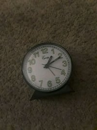 round white and black analog wall clock Annandale, 22003