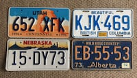 Lot of 4 - 1970s-2000s American & Canadian  Plates Calgary, T2R 1K5