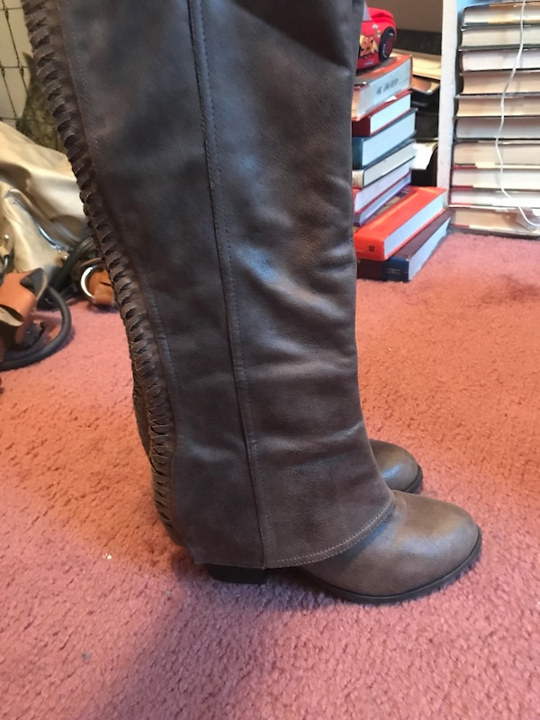 2ad598faf40 Used Pair of brown leather knee-high boots 6 1 2 for sale in Lynn ...