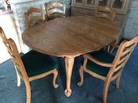 brown wooden table with chairs Bakersfield, 93309