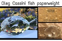New OLEG CASSINI Clear Crystal Fat Fish Paperweight(BNIB)... North Vancouver, V7M 1A5