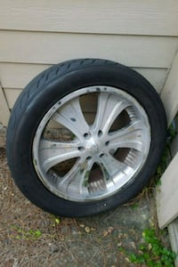 22 inch boss rims 2 like new thread tires Lake Charles, 70615