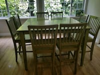 Bar height table and 8 chairs Maple Ridge, V2W 1V9