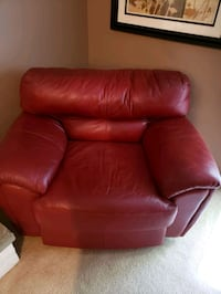 OVERSIZED Red Leather Chair Bowie, 20720