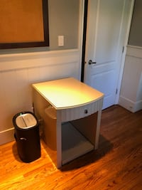 SOLID WOOD CUSTOM BUILT PRINTER TABLE/SIDE TABLE.  BOTTOM PULLS OUT Surrey
