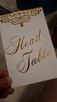 Wedding Decor - Table Numbers (Head Table, 1 to 25)