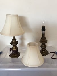 two brown and white table lamps Griffin, 30223