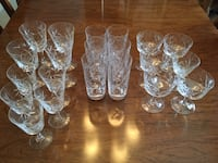 Beautiful pinwheel design hand cut crystal set of glasses