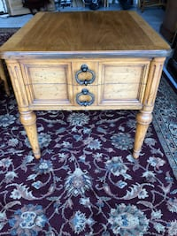 brown wooden 2-drawer side table Mission Viejo