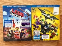 Dvd & Blu Ray Lego Movie and Batman Lego WITHOUT DIGITAL CODE Virginia Beach, 23451