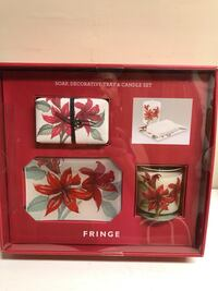 Decorative Tray, Soap and Candle Set by Fringe New York, 11364