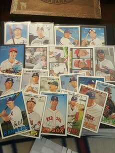 Boston Red Sox trading card lot
