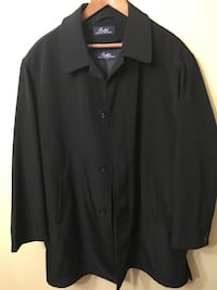 Ralph Lauren black trench-top coat Size Lg Brentwood, 15227