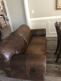 brown suede 3-seat sofa Lancaster, 29720