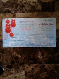 gift certificate worth $60 selling for $30 Howell Township