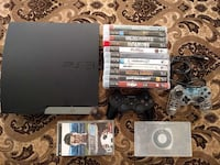 PS3 160Gb with Multiple Games & 2 Controllers Ontario, M9V 5E5