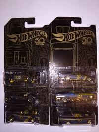 Hot Wheels 50th Anniversary Black & Gold Complete Set of 6 Oklahoma City