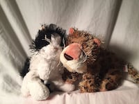 Gantz Tiger And Cat Vintage Plush Toys Waterbury