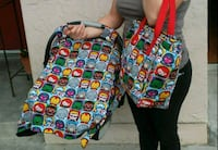 New marvel diaper bag and canopy set
