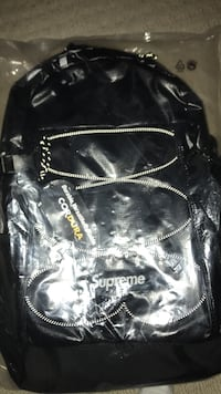 black Cordura X Supreme leather backpack Whitby, L1M