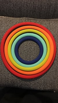 Fiesta heat rings. You use these to put very hot cookware on,casserole dishes ect. Essex, 21221