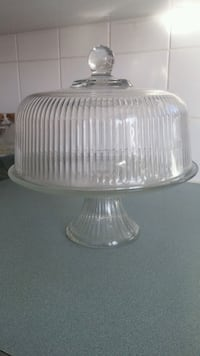 Cake stand with lid Glass Coaldale, T1M 1J2