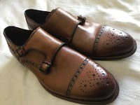 Brown leather dress shoes never warn size 8