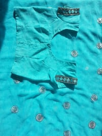 Saree - blue/cyan indian dress Toronto