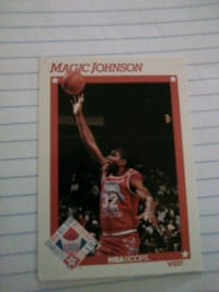 NBA LEGEND MAGIC JOHNSON CARD Washington