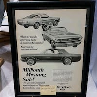 Millionth Mustang Sale advertisement poster