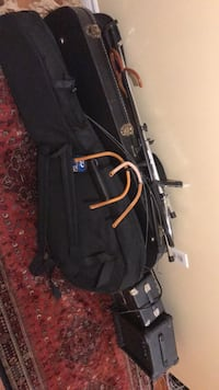 Three electric guitar with two stand and other equipment . Burlington, L7P 3Z3