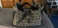 black and gray Michael Kors leather tote bag Glen Cove, 11542