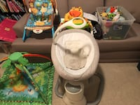 Graco swing, baby chair, playmat, rocker chair, car seat cover and several infant toys Ashburn, 20147