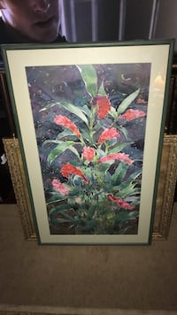 red and green flower painting Wilmington, 28405