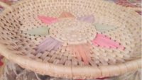 Vintage Wicker Easter Basket tray   Akron
