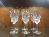 four clear cut glass footed glasses Toronto, M3A 1S9