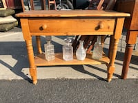 Vintage Farmhouse Table with Drawer Santa Monica, 90401