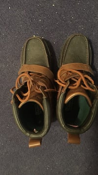 pair of brown leather boat shoes Calgary, T3H