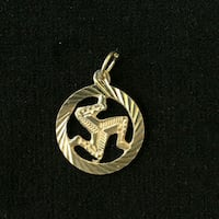 Sterling Silver Isle of Man Pendant