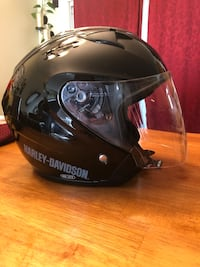 Harley 3/4 helmet sz xl with vents and drop down visor Bunker Hill, 25413
