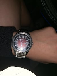 Silver and red Fossil watch San Antonio, 78230