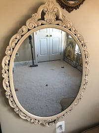 "40""X27.5"" Large Antique Oval Ivory Vintage mirror Gainesville, 20155"