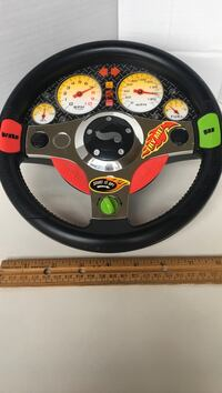 "Mattel 1999 Hot Wheels Rev n Roll Steering Wheel electronic Shakes and talks uses 3 AA batteries 9"" dia What a cool toy Myrtle Beach, 29579"