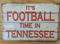It's Football Time in Tennessee wood sign
