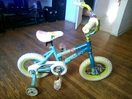 Girls kids bike with training wheels Annabella