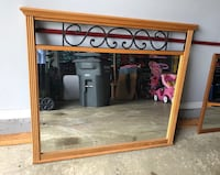Oak veneer framed mirror  Woodbridge, 22193