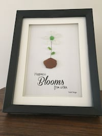Beautiful Flower Sea Glass Frame  Pincourt, J7W 0K1