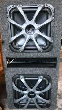 Dual Kicker L7 12s in ported box with cx 1200.1 amp and capacitor  Columbia Heights, 55421